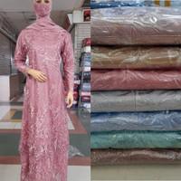 Gamis Kebaya Modern Brokat Tile Tingkat Full Bordir Baju Kondangan