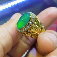 cincin batu bacan Doko gulau barang lawas,,100%asli natural alam