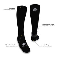 Tiento Long Compression Socks Black Kaos Kaki Olahraga Ketat Panjang - M