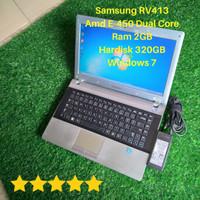 Laptop Samsung RV413 Amd E450 Dual Core Ram 2GB HDD 320 Second Mulus