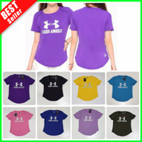 OK Baju OlahRaga Wanita Kaos Senam Cewek Fitness Gym Lari Yoga Dry Fit