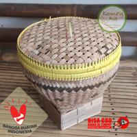 Bakul Wakul Sangkul Boboko Ceting Nasi Kecil dengan Tutup dari Bambu - Bakul B