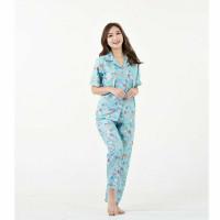 Piyama Wanita Satin   Pakaian Tidur Perempuan   Baju Tidur Wanita - XO Toska