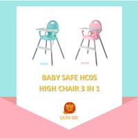 Baby Safe HC05 High Chair 3 in 1 Kursi Tempat Duduk Makan Bayi Booster