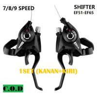 Shifter 7 8 9 Speed Set Handle Rem Pengatur Pemindah Gear Gigi Sepeda