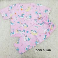Piyama bayi perempuan 3-12 bulan baju tidur bayi perempuan