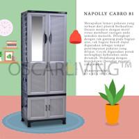Napolly Lemari Plastik Cabro 81 Gantung Plus Cermin- PROMO