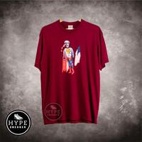 Kaos SUPREME Skeleton Burgundy Tshirt 100% ORIGINAL - M