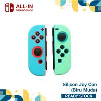 Silicon Silikon Joy Con Nintendo Switch Soft Case Joycon Switch - Biru Muda