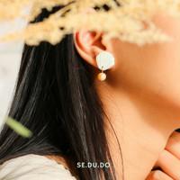 Adinda earrings | Anting mutiara asli, anting tusuk, mutiara air tawar