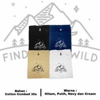 Baju Kaos Distro Original / Find Your Wild - Navy, S