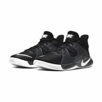 ORIGINAL Nike Sepatu Basket Fly By Mid - Hitam Putih - 43