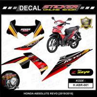 STIKER MOTOR HONDA ABSOLUTE REVO 110 [2010] DECAL STRIPING VARIASI