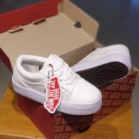 Sepatu Anak Vans Os Tali Full White size 17-35