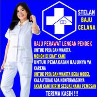 Baju Perawat Pria dan Wanita Lengan Pendek / Baju Oka / Baju Scrub Oka