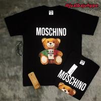 Baju Kaos Tshirt Moschino Bear Premium Hype Mirror Quality