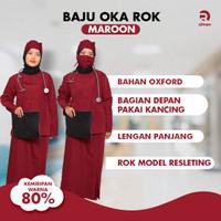 Seragam Setelan Oka Rok / Baju Operasi / Baju Perawat /Seragam Oka Rok