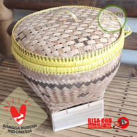 Bakul Wakul Sangkul Boboko Ceting Nasi Kecil dengan Tutup dari Bambu