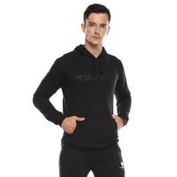 Tiento Sweater Hoodie Graphic Black Sweat Shirt Kasual Olahraga Hitam