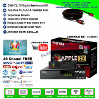 TV DIGITAL DVB T2 MATRIX APPLE SET TOP BOX GARANS 1 TH FREE KABEL HDMI