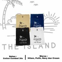 Baju Kaos Distro Original / The Island - Cream, S