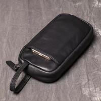 Pouch Bag Kulit Asli Unisex - Tas HP Asli Kulit - Dompet HP