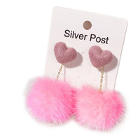 Anting Korea Tassel Earrings Foreign - Pink