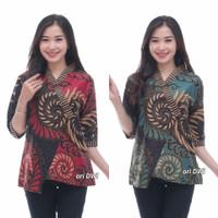 Baju Atasan Batik Wanita / Blouse Batik Wanita Seragam Kerja Terbaru
