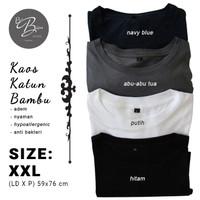 Kaos Katun Bambu Adem Polos Pria dan Wanita (Cotton Bamboo) Size XXL - Merah