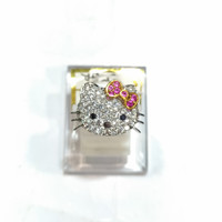 Cincin Hello Kitty Sz 13 Emas Putih 750