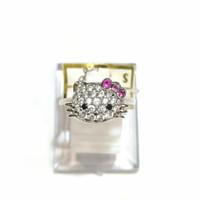 Cincin Hello Kitty Sz 15 Emas Putih 75%