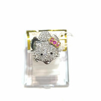 Cincin Hello Kitty Sz 8 Emas Putih 750