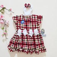 PK0226 - Kotak, Dress Murah Baju Bayi Perempuan usia 0 - 12 bulan