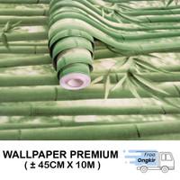 Wallpaper Dinding Stiker Walpaper dinding Bambu Hijau 45cmx10m