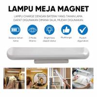 Lampu LED Magnet 3 Warna Multifungsi Lampu Meja Baca Kerja Makeup USB