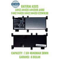 BATERAI ASUS C21N1638 VIVOBOOK A442 F442 X442 X442U A480 ORIGINAL