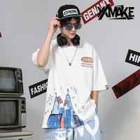 XXMAKE XXC171 Kaos Oversize Korea Japan Pria/Wanita T-shirt -COD