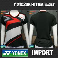 baju kaos badminton bulutangkis wanita ladies cewek yonex y21023b hita