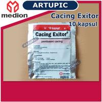 Cacing Exitor isi 10 Kapsul Obat Pembasmi Cacing Ayam Medion Artupic