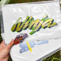 stiker striping fairing samping ninja rr hijau old cbu