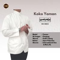 Baju/kemeja Koko Habaib/hadramaut bin abbas jumbo Putih Tulang