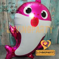 Balon foil Baby shark pink