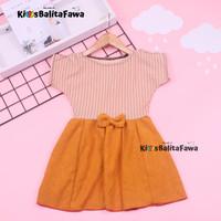 Dress Sabrina Pita 2-3 Tahun / Dres Murah Baju Lengan Anak Perempuan