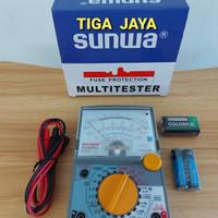 Multi Tester Avometer Analog Sunwa Dos Biru YX 360 TRE-BL Bkn Sanwa