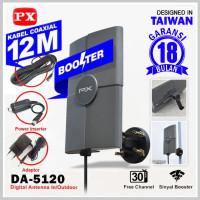 PX DA-5120 Antena TV Digital Indoor / Outdoor Free Kabel 12 Meter