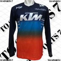 baju Jersey dewasa sepeda gunung MTB, Jersey dewasa moto cross trail