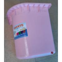 PINK Bak Mandi Bak Air Bentuk Sudut Bahan PVC