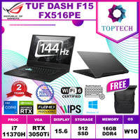 ASUS TUF DASH F15 FX516PE RTX3050Ti i7-11370H 16GB 512SSD W10 144Hz