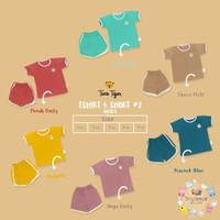 Twin Tiger Baby Retro Tshirt & Short - Setelan Baju Anak
