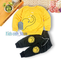 Setelan anak laki laki Baju Bayi baju anak perempuan Sweater anak - Kuning, 1 tahun